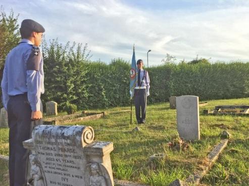 41F Taunton visit War Graves