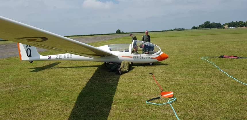 Tiverton Air Cadets Gain Gliding qualifications.